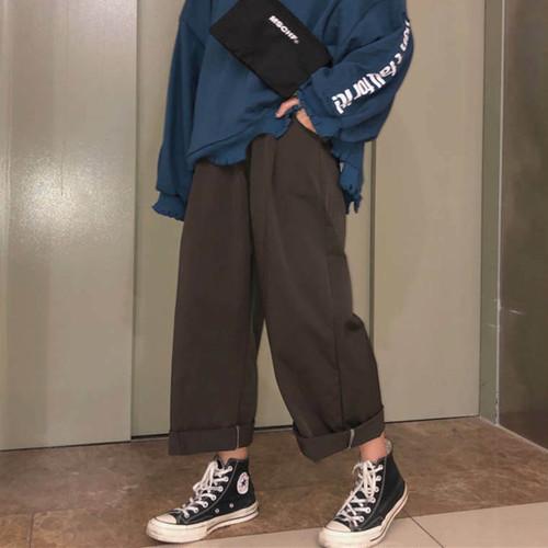 【送料無料】メンズライクなゆるカジ♡ ゆったり カジュアル ウエストゴム ワイド パンツ