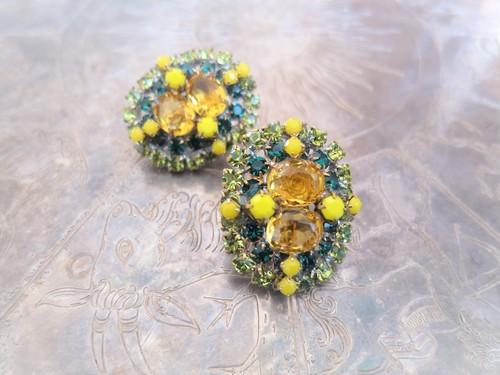 vintage earrings bijou <ER-RBylgr>