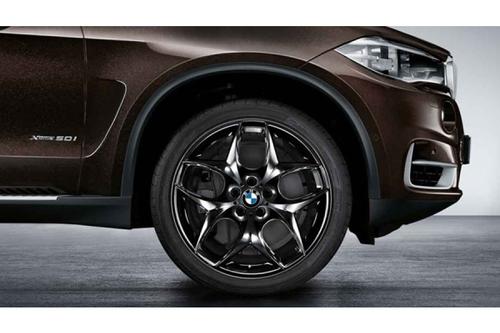 BMW純正 アロイホイールダブルスポーク215 20インチ X5 X6 F15  F16 E70 E71 E72 ブラックポリッシュ