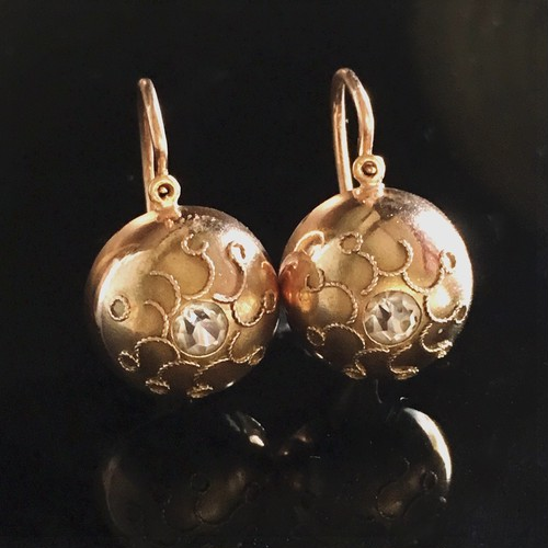 Victorian Pinchbeck Earrings