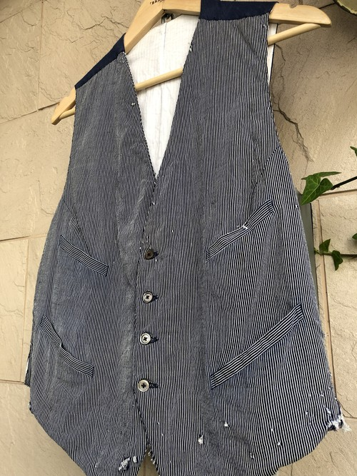 〜1940s French stripe pattern vest