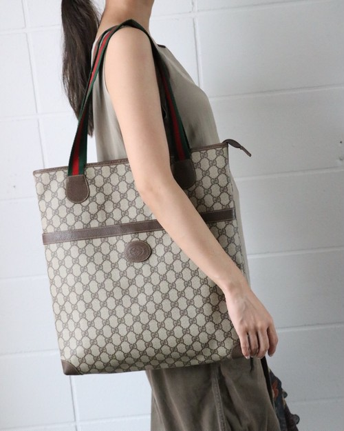OLD GUCCI monogram tote bag