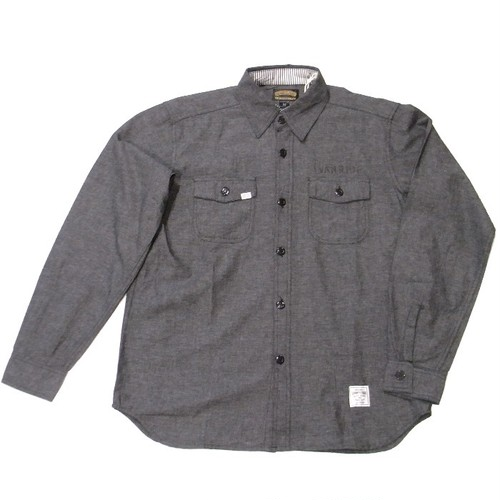 SEVENTY FOUR(セブンティーフォー) /  MILITALY STYLE CHAMBRAY WORK SHIRT(STF17SF29)(Tシャツ)
