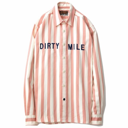 AT-DIRTY(アットダーティー)/DIRTY MILE L/S SHIRT (PINK)