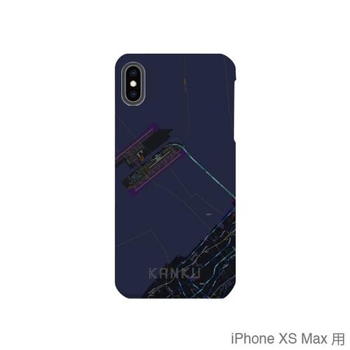 【関空】地図柄iPhoneケース(バックカバータイプ・ブラック)