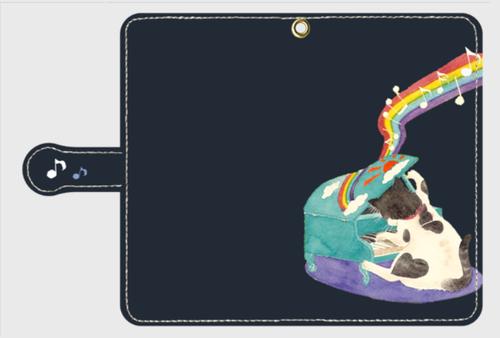 選べるカラー《猫背》*iphone・Android 手帳型スマホケース