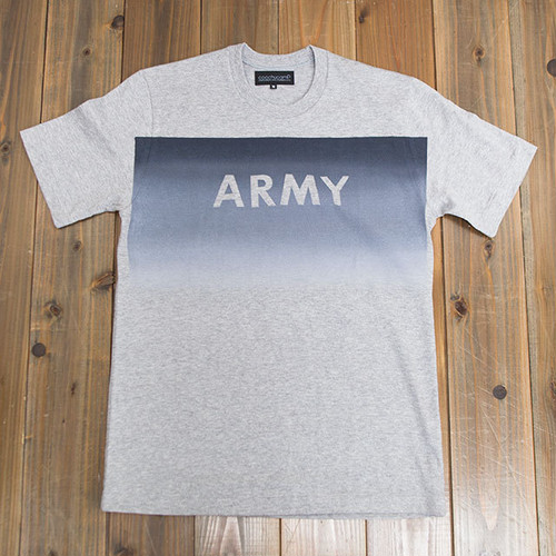 【SOLD OUT】COOCHUCAMP : Happy Square gradation T-shirt / Gray