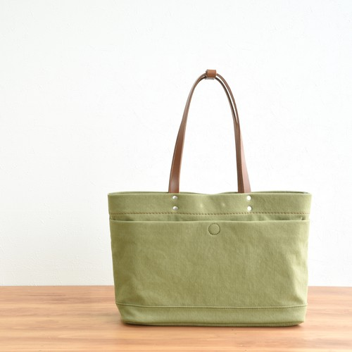 CANVAS MAGAZINE TOTE S / MOSS GREEN