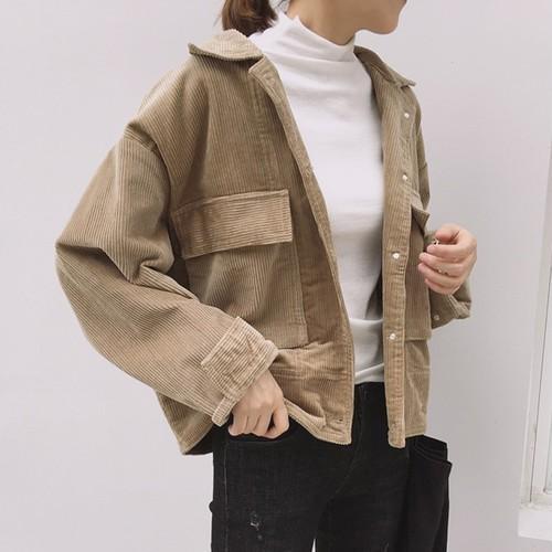 【アウター】レトロ無地シンプル合わせやすい着痩せジャケット17101416