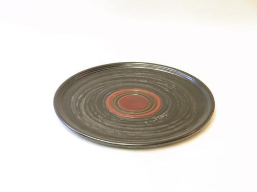 讃岐塗 象谷 独楽(コマ)木製給仕盆 33㎝ 伝統工芸品 すり漆