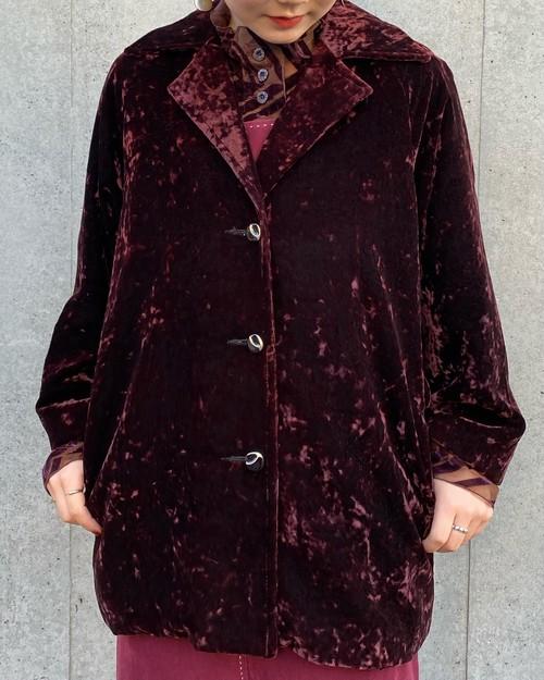 (PAL) velours tailored jacket