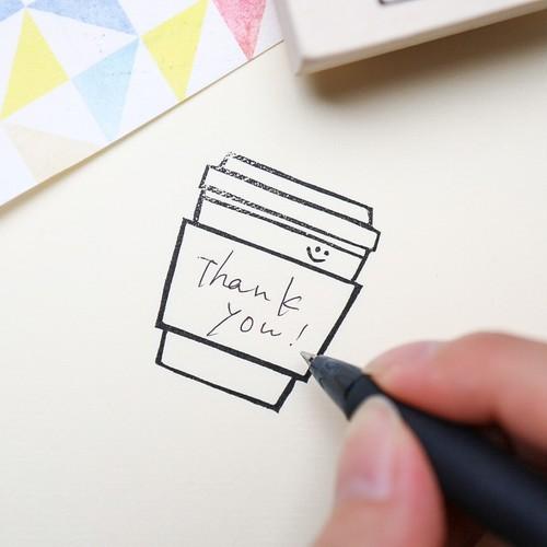〈はんこ〉メッセージが書けるテイクアウトコーヒー
