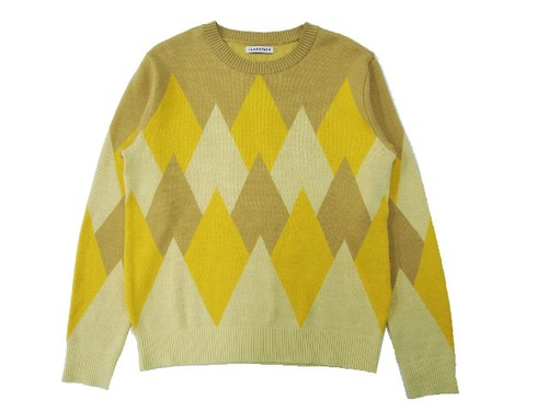 P/O ARGYLE KNIT YELLOW