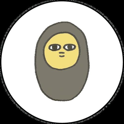 ミニ缶バッジ(貧乏神)