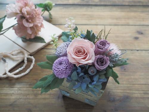 受注制作  French Chic <Antique Lilas Rose>*フレンチシック 母の日アレンジメント