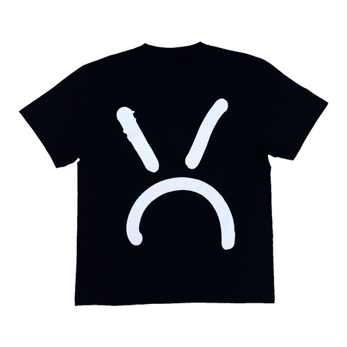MQ mean face Tee -Black-