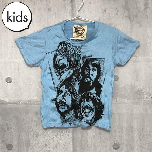 【送料無料 / ロック バンド Tシャツ】 THE BEATLES / Illustration Light Blue  Kids T-shirts M L ザ・ビートルズ / イラスト ライトブルー キッズ Tシャツ M L