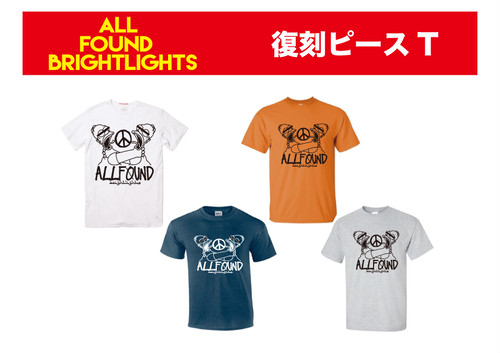 ALL FOUND BRIGHTLIGHTS 復刻ピースT