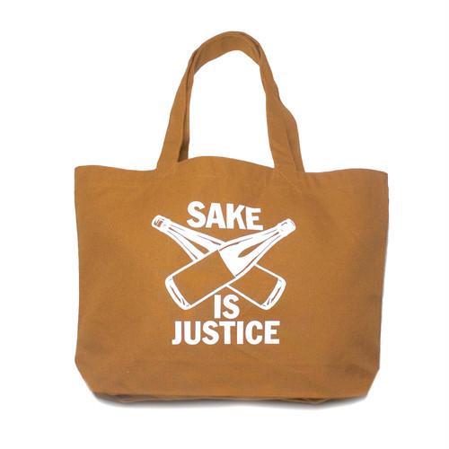【BAG】SAKE IS JUSTICE トートバッグ(大) /キャメル