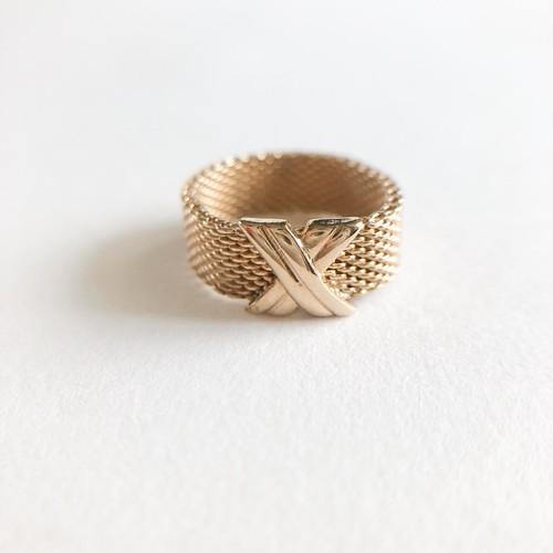 """AVON"" Silk Weave ring#8-9[r-127]"