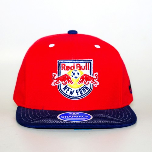 adidas New York Red Bulls Oversized Logo Snapback (RED/NAVY)