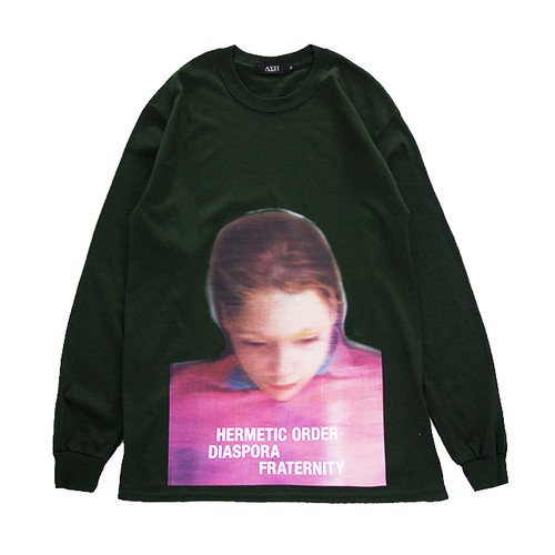 Paint L/S Tee (Green)