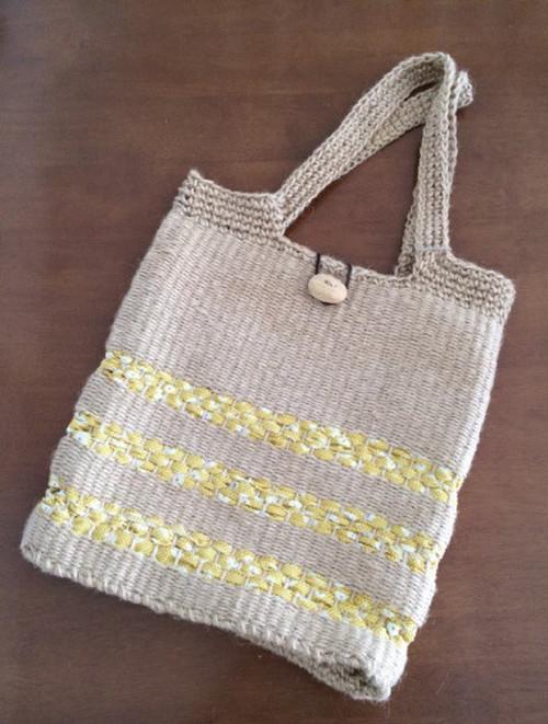 エコおりりん習熟コース【4】輪織りで楽しむ、編み持ち手のA4肩掛けバッグキット