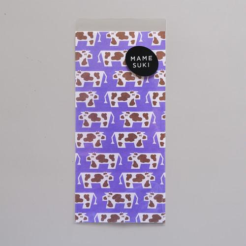 【NEW】リソグラフ 一筆箋[カウウォーク] Purple × Camel
