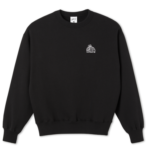 LAST RESORT AB / HALF GLOBE CREWNECK SWEAT -BLACK-