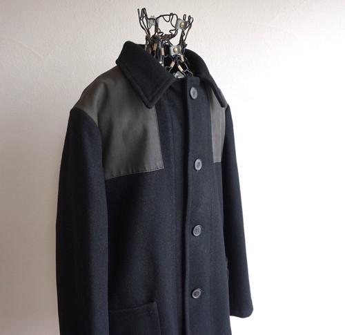 1990's FRANCE製 [A.P.C.] ドンキーコート ブラック 表記(M) アーペーセー