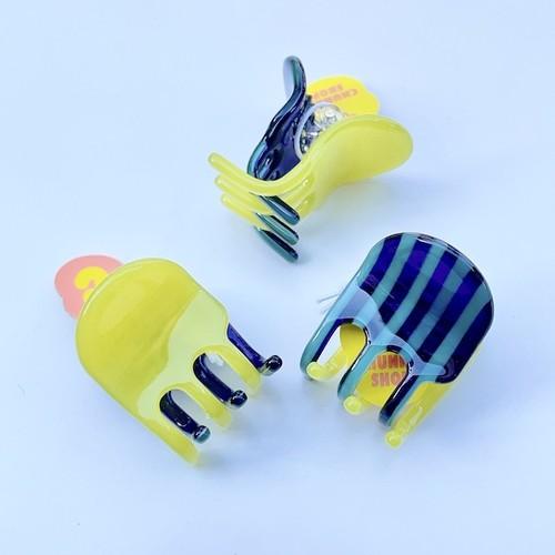 "Chunks ""Jester Mini Claw"" Lime Stripe チャンクス バンスクリップ・ヘアピン"