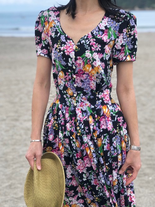 dress / flower black