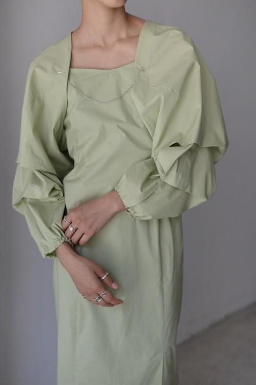 ROOM211 / Sleeve Bolero (green)