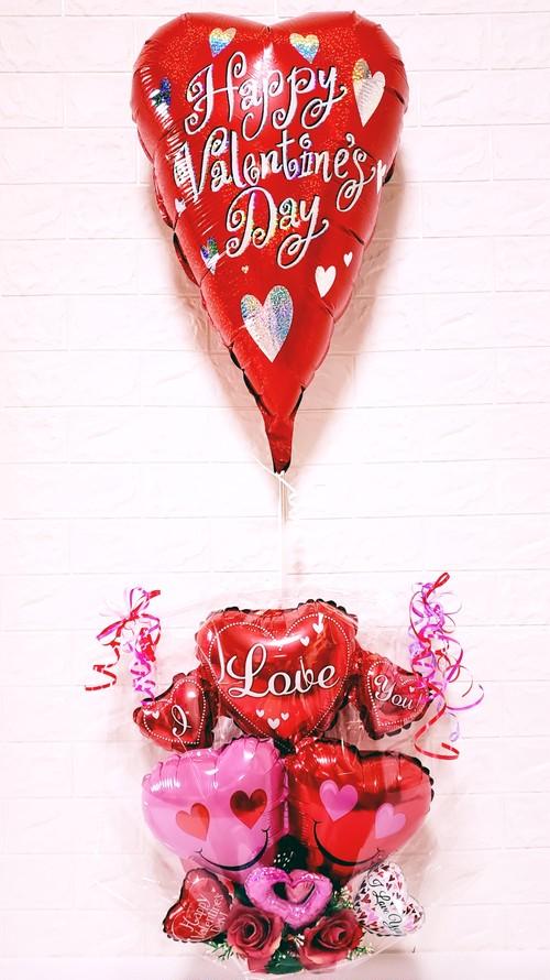 バレンタインプカプカバルーン付