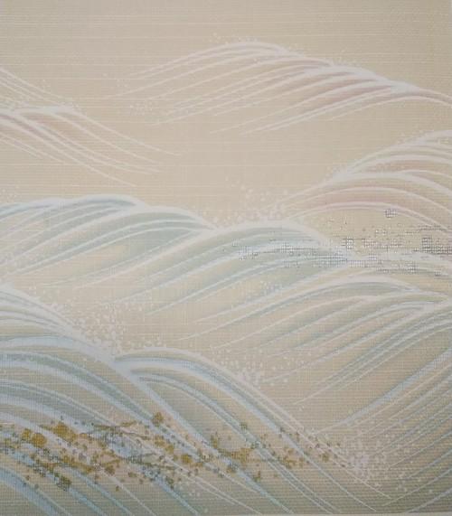 はるか861(1枚柄) 連波 織物ふすま紙 202cm×97cm 1枚 パステルトーン波