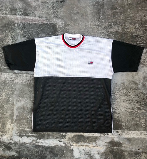 """USED / Tommy Hilhiger """"made in USA"""" mesh T"""
