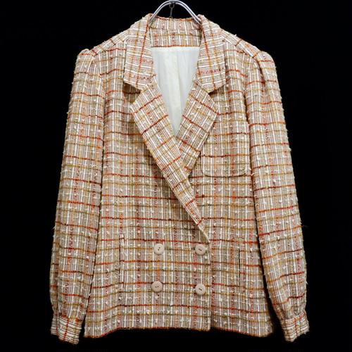 【レディース】アメリカ古着 vintage ジャガード テーラードジャケット