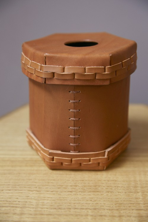 Toilet Roll Leather Box