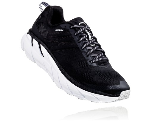 HOKA ONE ONE / CLIFTON 6 Women's 《Black × White》
