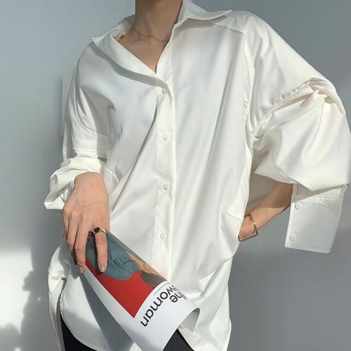 コットンルーズスキッパーシャツ ・1553
