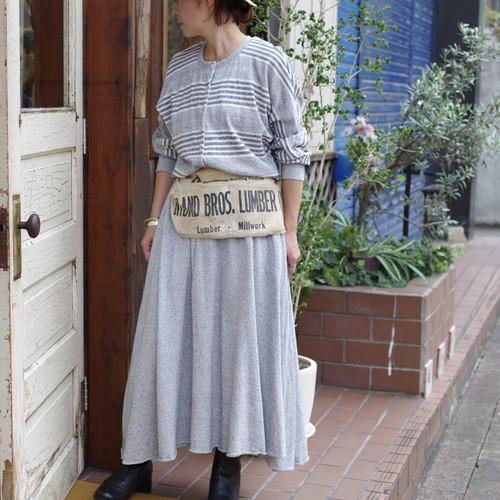 Pullover Dress / ドルマン ボーダー ドレス