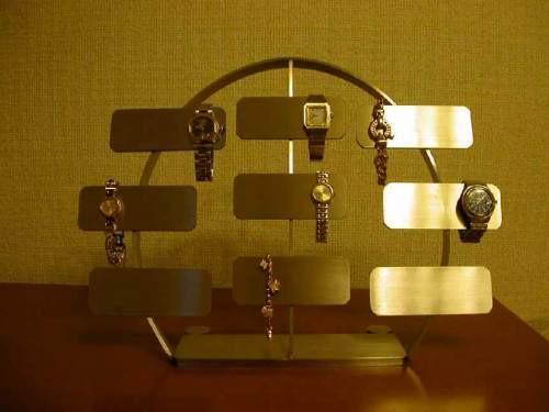 腕時計コレクションのディスプレイに!腕時計 スタンド ステンレスバー18本掛け腕時計スタンド