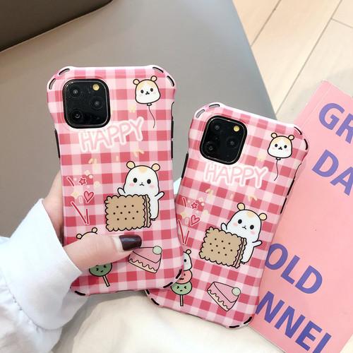 【注文商品】Cute Cartoon Hamster Soft IMD iPhoneケース【Pink】