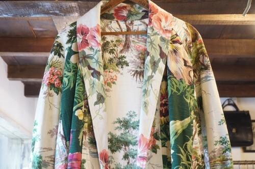 50's botanical cloth patchwork Jacket