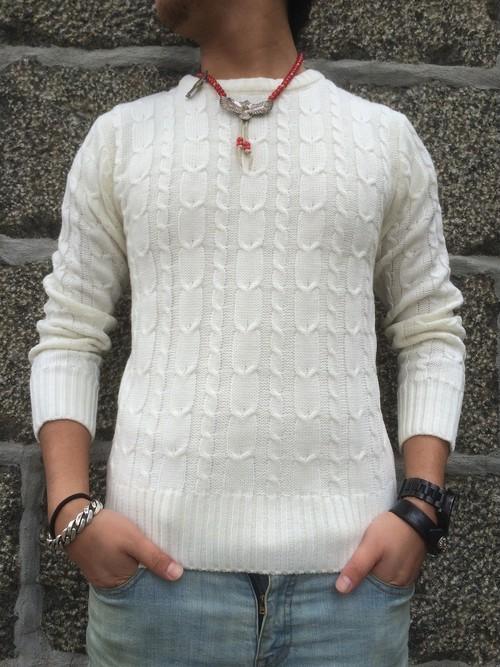イタリア老舗ニットFILIVIVI社100%使用】FLASHBACK FILIVIVI Merino wool Knit Sweter