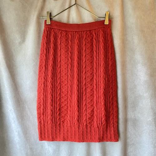 Miss Chloe vintage knit skirt /朱色のニットスカート
