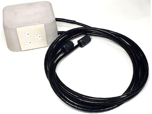 要アース機器用ハイパーシールドアイランド電源コンセントタップ(くろたっぷ)パーツセット INB-01SET