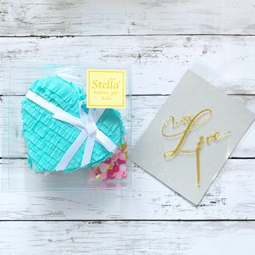 『Tiffany blue』mini pinata  + kirakira topper set