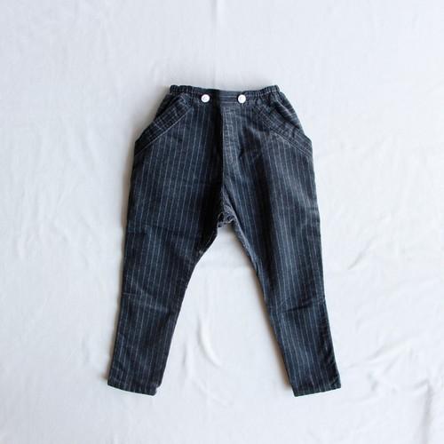 《cokitica 2015AW》sarrouel velveteen pants / gray stripe / 100cm