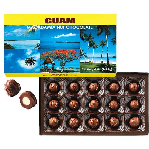 グアム マカダミアナッツ風景チョコ15粒入1箱
